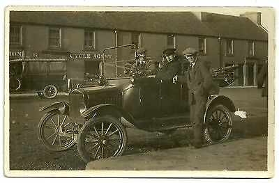 Transport postcard Early Motor Car motorcar 1920s unknown location