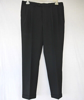 RETRO 50's NORTHERN SOUL STYLE M&S TWIN PLEAT TROUSERS WITH TURN UPS 38W 31L VGC