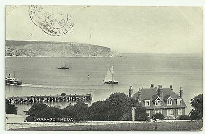 Dorset postcard Swanage The Bay