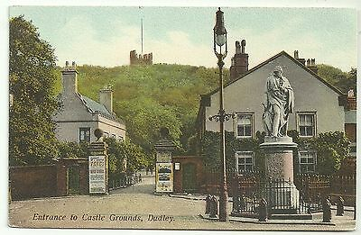 Warks postcard Dudley Entrance to Castle Grounds