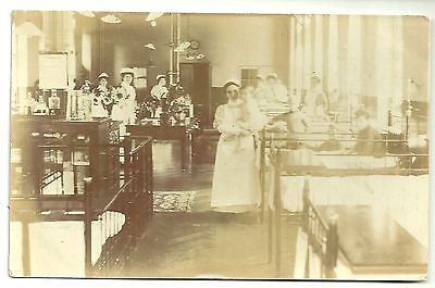 Social History postcard  unlocated London ? hospital Childrens Ward