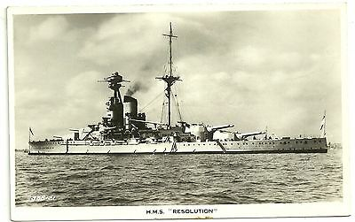 Shipping postcard Military  HMS Resolution