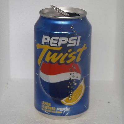 Pepsi Twist Lemon Flavored Soda Pop Aluminum Can 12 oz (3188)