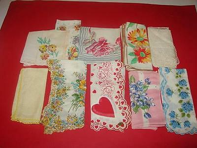 Vintage  Hankercheifs -  Hankies  -  Hanky  10 Lot
