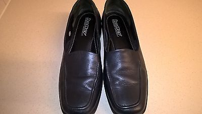 Hotter Black Leather Shoes size 7