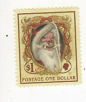 Discworld Stamps. $1 Hogswatch. Year of the Pensive Hare 2009