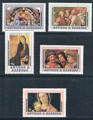 Antigua 2002 Christmas 5v set SG 3681/5 MNH
