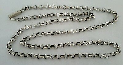 "Antique  victorian  1890's  silver  chain necklace. 18  "".  5.3 grams"