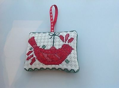 Christmas completed cross stitch decoration