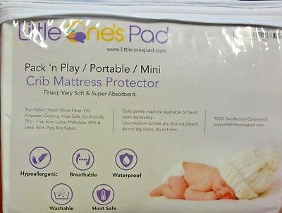 Little One's Pad Pack N Play Mini Crib Portable Mattress Cover (N736)