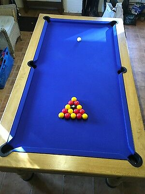 POOL TABLE 7'X4' with many extras.