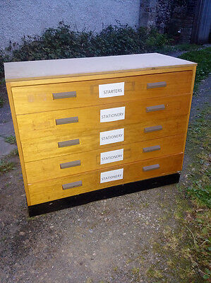 small old school art room geography plan chest planchest
