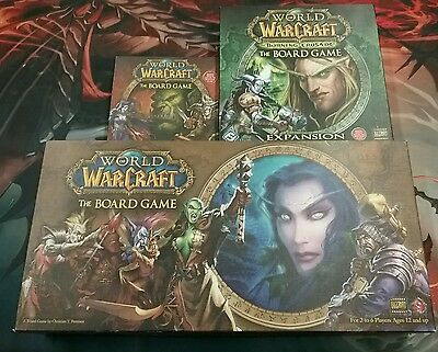 World Of Warcraft The Board Game +  Burning Crusade & Shadow of War Complete Lot