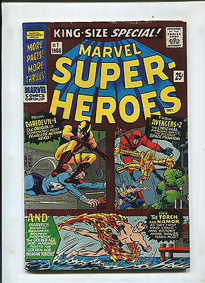 Marvel Super-Heroes #1 (6.0) Reprints Daredevil 1  Avengers 2 And Subby Vs Torch