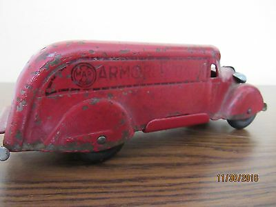 "OLD 1940's ""MARX ARMORED BANK"" TOY TRUCK PRESSED STEEL"