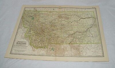 Vintage Montana Map The CENTURY DICTIONARY and CYCLOPEDIA 1906 19550