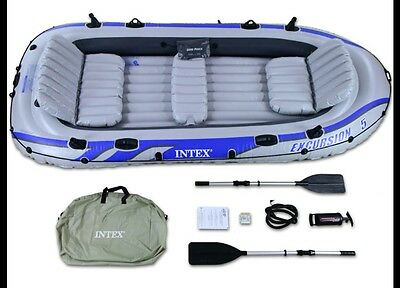 Intex Excursion 5,  Large Inflatable Boat.   (New) Seats 5.