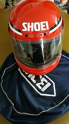 Shoei  Motorcycle Helmet - Red  Size M  53 with cloth bag.
