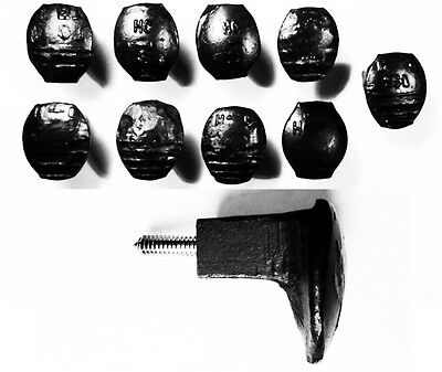 9 Black Easy Screw Railroad Spike Knobs Door Pulls Cupboard Antique Vintage Old