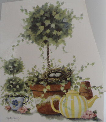 Ceramic Decal     13 x 12 cm   TOPIARY