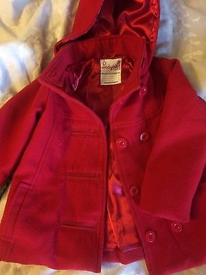 Rainbow Girls Peacoat Jacket - Aged 2-3 Years