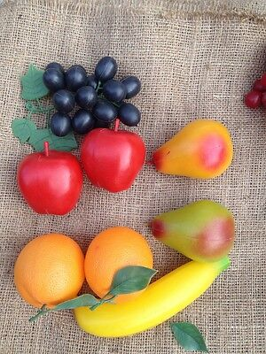 Vtg Plastic Fruit From Hong Kong Variety