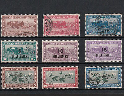 Egypt 1926/1927 Selection Of Early Egyptian Commemorative Stamps (9)