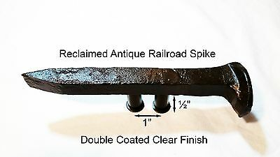 "1"" Right Sealed Railroad Spike Dresser Drawer Cabinet Handle Antique Vintage"