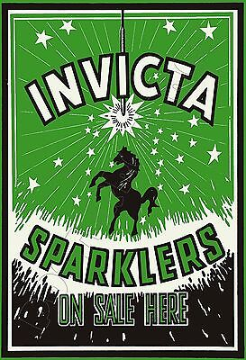 """INVICTA SPARKLERS - On Sale Here - Germany - POSTER 13x19"""" - Fireworks !!"""