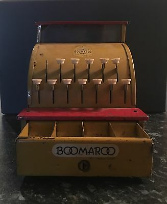 Boomaroo Toys Cash Register Australia Made Tin Toy Collectable Vintage