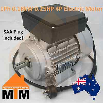 Single Phase Electric Motor 240V 0.18 kW 0.25 HP 1370rpm 1400 rpm