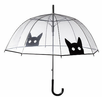 Clear View Umbrella with Cat Silhouettes, Clear