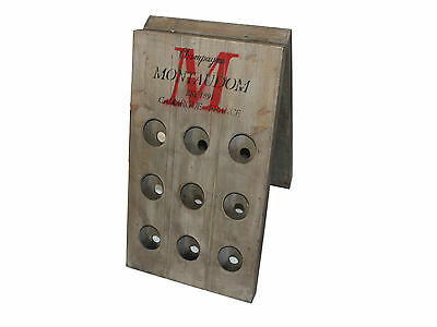 18 Hole Wood Wine Rack