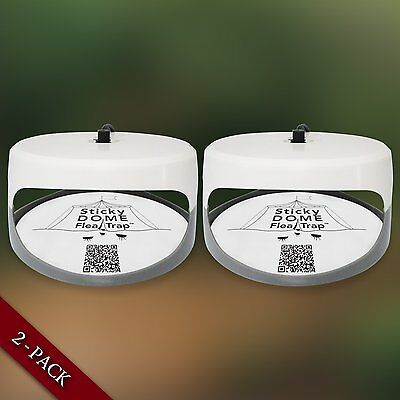 2 Pack Aspectek Sticky Dome Non Poisonous Chemical Free Flea Trap Cockroach Bug