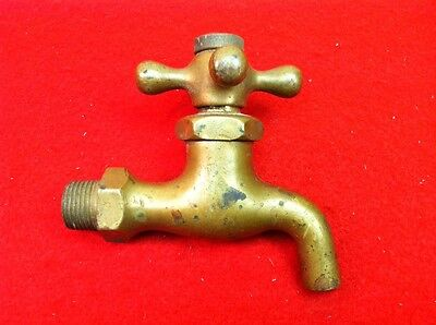 Lot D Antique Vintage Solid Brass Self Closing CF Cold Fresh Water Faucet Beauty
