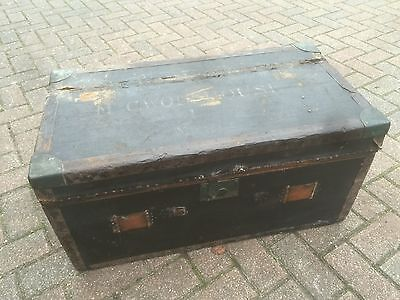 Victorian Trunk / Ottoman / Blanket Box / Toy box. Open To Offers.
