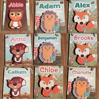 Personalised Woody Pegs Names G-L Inclusive, Bnwt, Great For Christmas/stocking