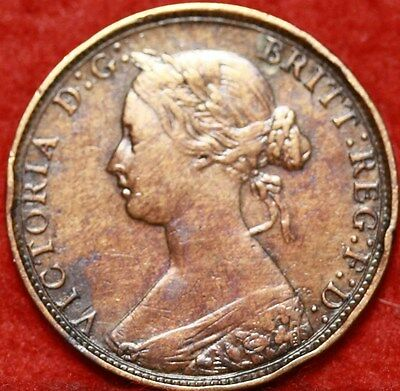 1862 Great Britain 1/2 Penny Foreign Coin Free S/H