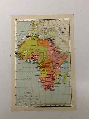 AFRICA  Map Old Vintage Original Print 1942 Railway Routes Countries Xmas Gift