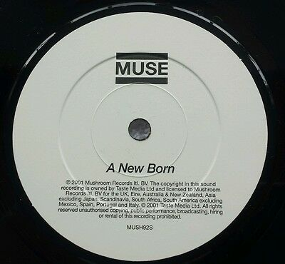 "Muse New Born Uk Rare Limited Pressing 7"" Vinyl In Picture Sleeve"