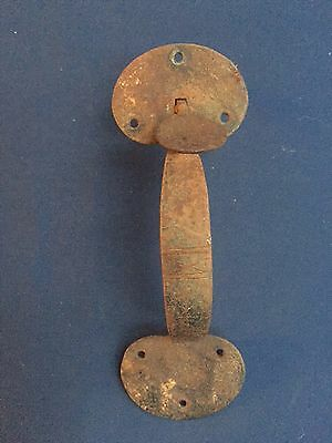 "Vintage Iron Door Handle & Thumb Latch 8 5/8"" Long & 3"" Wide on Ends"