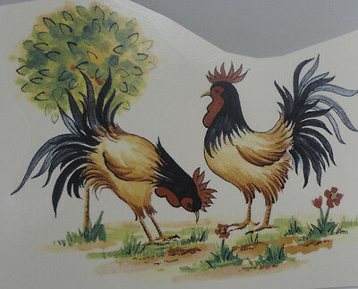 Ceramic Decals    CHICKENS    15 x 12  cm
