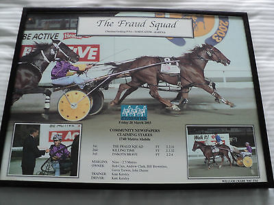 The Fraud Squad Harness Racing Horse Photo. Owner; Billy Brownless