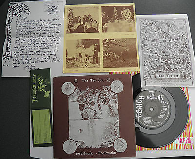 "The Tea Set-South Pacific-UK 7""+4 Inserts!-DIY Indiepop Abstract Wave-1981-HEAR"