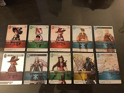 New Mint Final Fantasy TCG Opus 10 Card Lot Sephiroth Aerith Trading Game