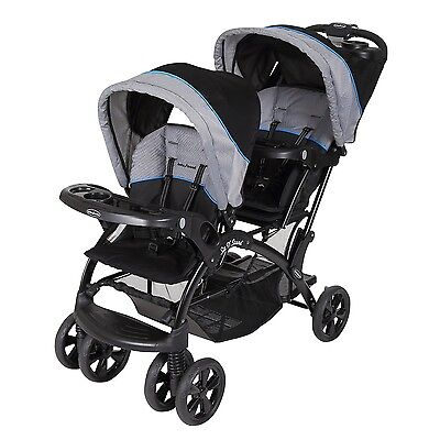 Baby Trend Double Ride Sit N Stand Toddler and Baby Stroller, Millennium Blue