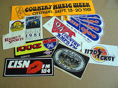Advertising Decals Stickers From the Past Lot of 14