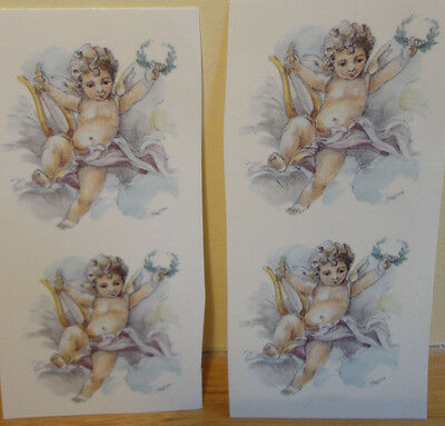 Ceramic Decal    Cherubs  (4 pieces0      5cm diam.