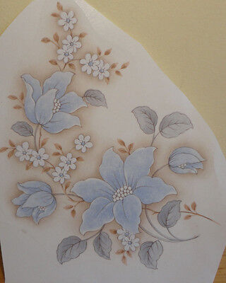 Ceramic Decal      14 x 11cm      Blue Floral