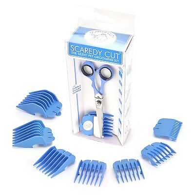 ScaredyCut 9pc Silent Pet Grooming Kit.  BLUE.  For Dogs, Cats, & Rabbits.